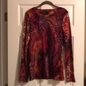 Multicolor Karen Kane top with a red tank top XL